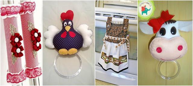 12 ideas para hacer adornos de tela y fieltro para decorar for Adornos para cocina