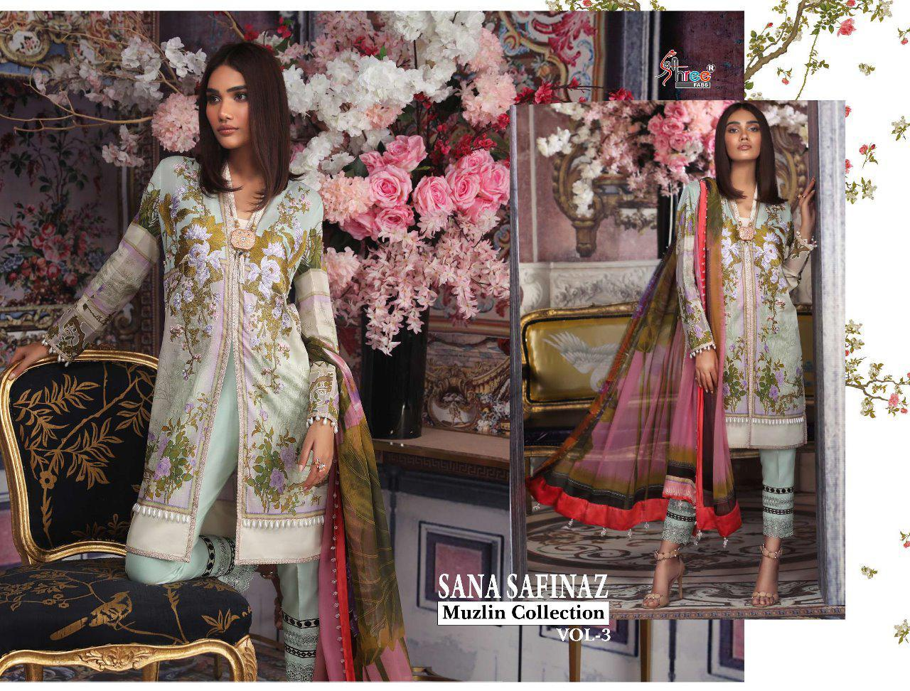 5faddfc4fa Shree fab Sana Safinaz Muzlin Collection vol 3 Pakistani Suits ...