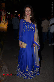 Telugu Actress Tejaswi Madivada Pos in Blue Long Dress at Nanna Nenu Na Boyfriends Audio Launch  0111.JPG