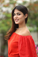 Rhea Chakraborty in Red Crop Top and Denim Shorts Spicy Pics ~  Exclusive 202.JPG