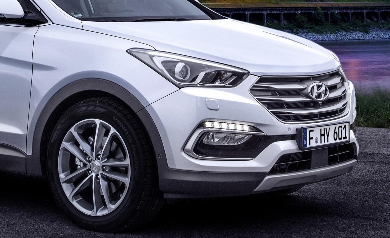 Facelifted 2017 Hyundai Santa Fe Unveiled Debuts In