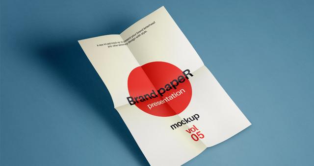 A4 Paper Mock-Up PSD