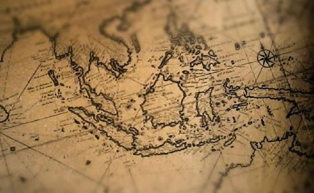 Peta Indonesia Coklat