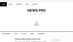 News Pro – Responsive Blogger Template
