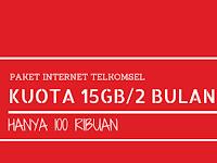 Paket Internet Telkomsel 15GB/60 Hari Hanya 100 ribu