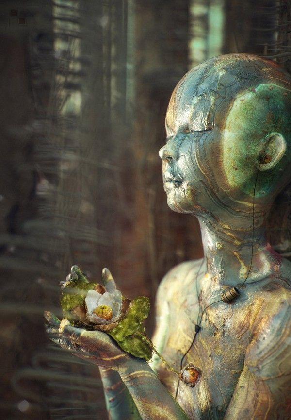 arte surrealista 3D.