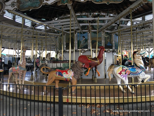 carousel at Oaks Amusement Park in Portland, Oregon
