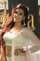 Prajna Actress in backless Cream Choli and transparent saree at IIFA Utsavam Awards 2017 0126.JPG