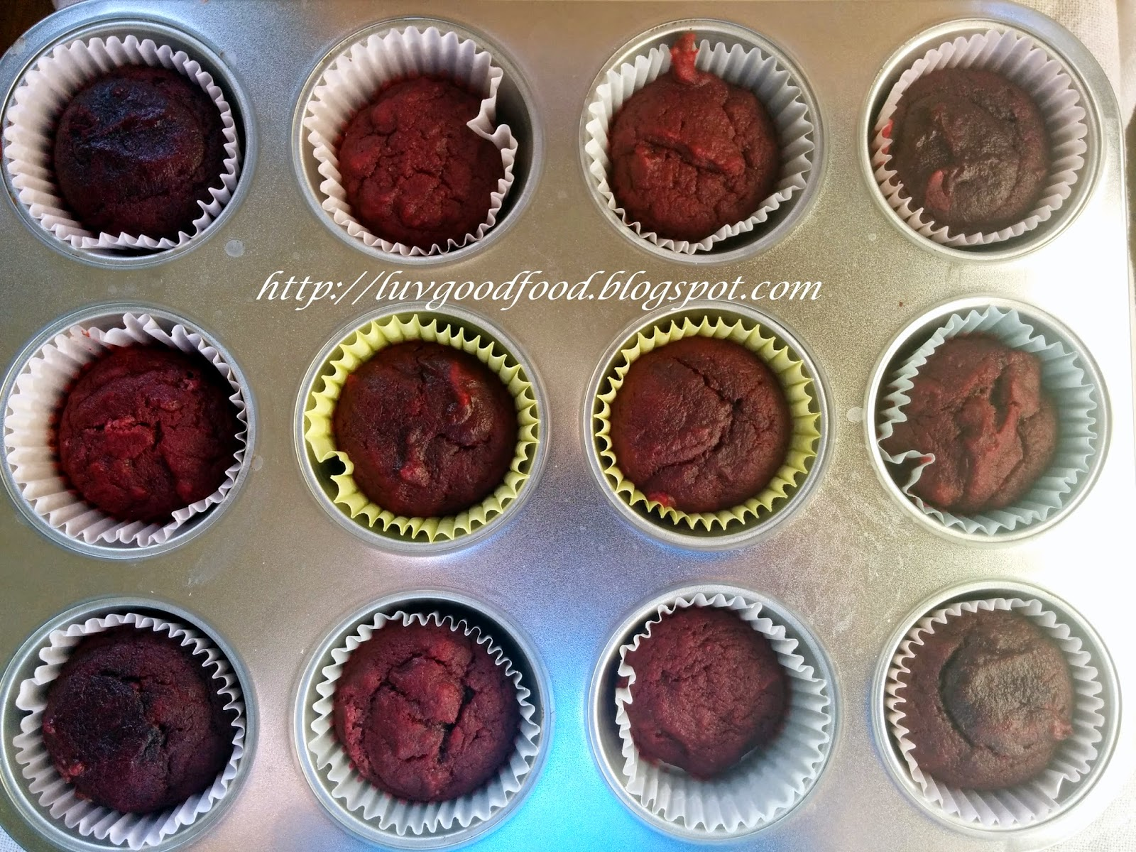 My experiments with food: Eggless no food colour red velvet ...