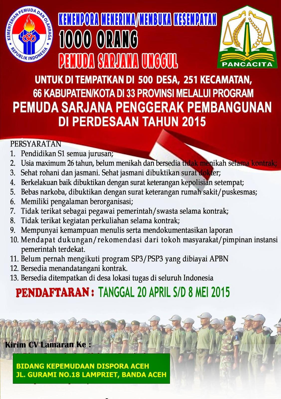 BIDANG KEPEMUDAAN DISPORA ACEH : PEMUDA SARJANA PENGGERAK PEMBANGUNAN - ACEH, INDONESIA