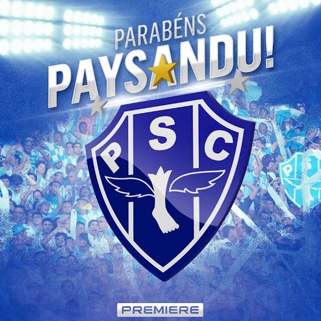 Carta de agradecimento ao Paysandu