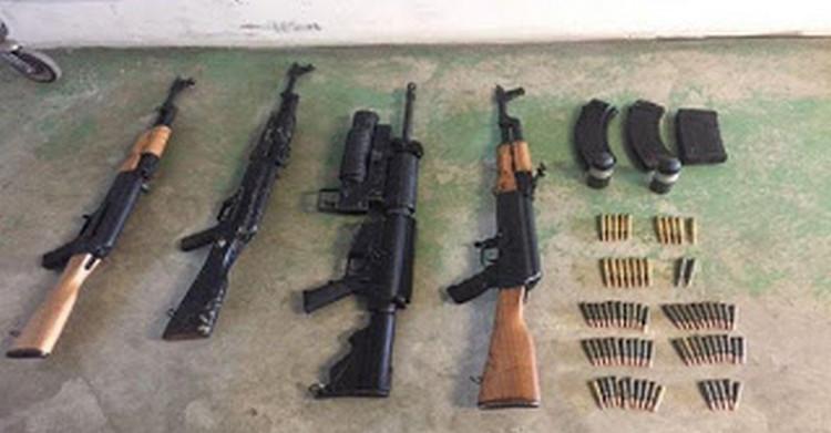 Fuerza Tamaulipas encuentra semienterrado armamento en  Tamaulipas