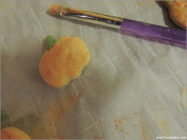 Calabazas de Colores de Decoración para los Bordes de la Tarta
