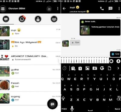 BBM Mod White Black Apk