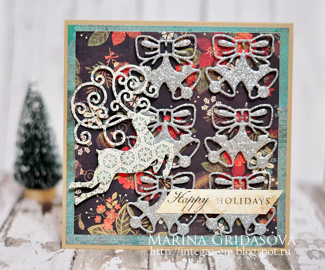 Die-Namites December blog-hop @akonitt #card @by_marina_gridasova