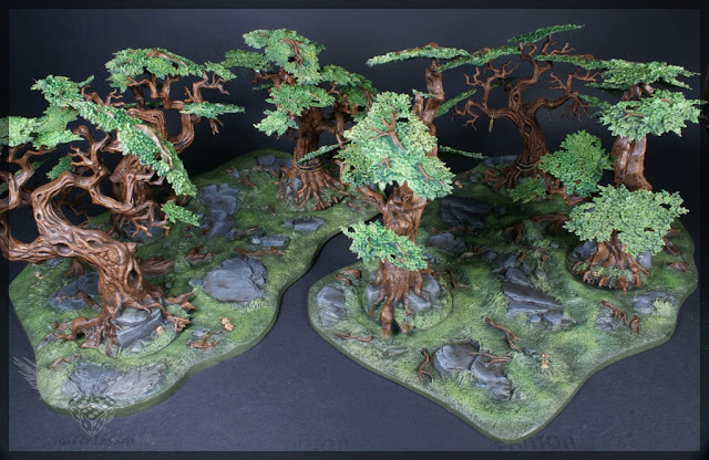 warhammer age of sigmar sylvaneth wyldwood painted forest scenery miniatures 1