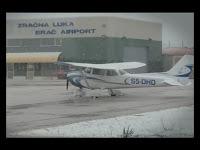 snijeg aerodrom Brač Gornji Humac slike otok Brač Online