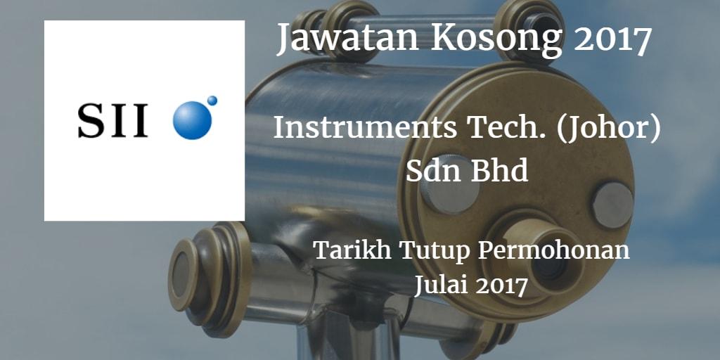 Jawatan Kosong  INSTRUMENTS TECHNOLOGY (JOHOR) SDN.BHD 23 Julai 2017