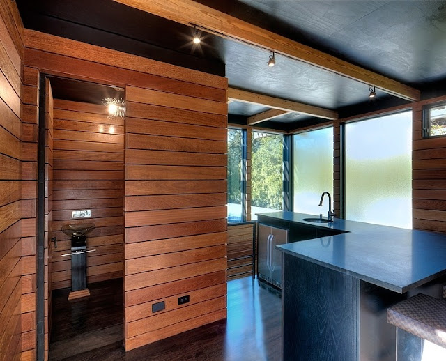 แบบห้องครัวผนังไม้