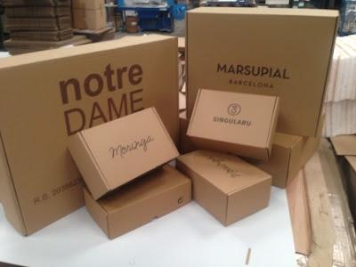 cajas para ecommerce y cajas para envios postales.
