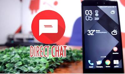 Cara Menggunakan Aplikasi Direct Chat Seperti Chat Melayang  di Facebook