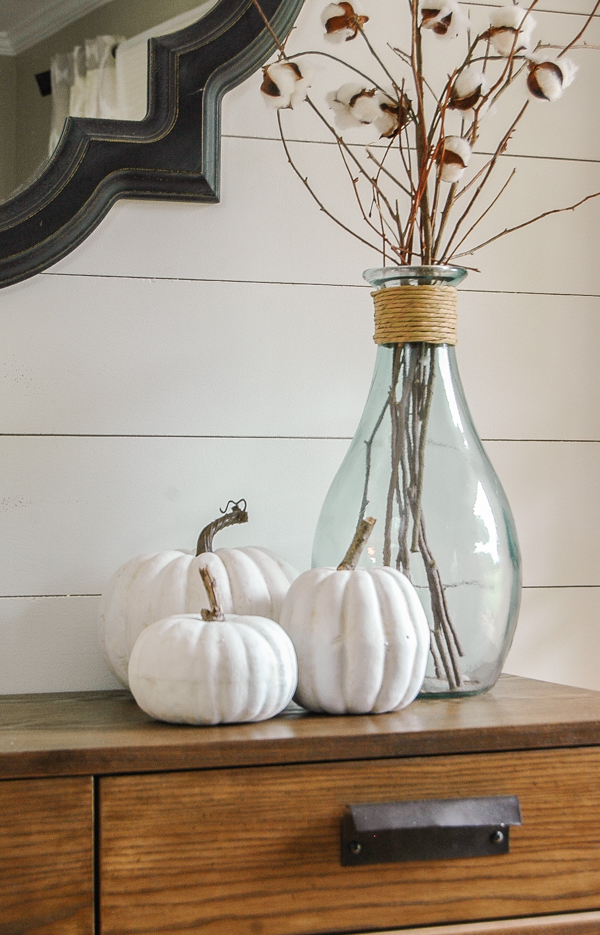 How to make plastic faux pumpkins look real
