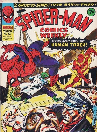 Spider-Man Comics Weekly #94, Lizard and Human Torch
