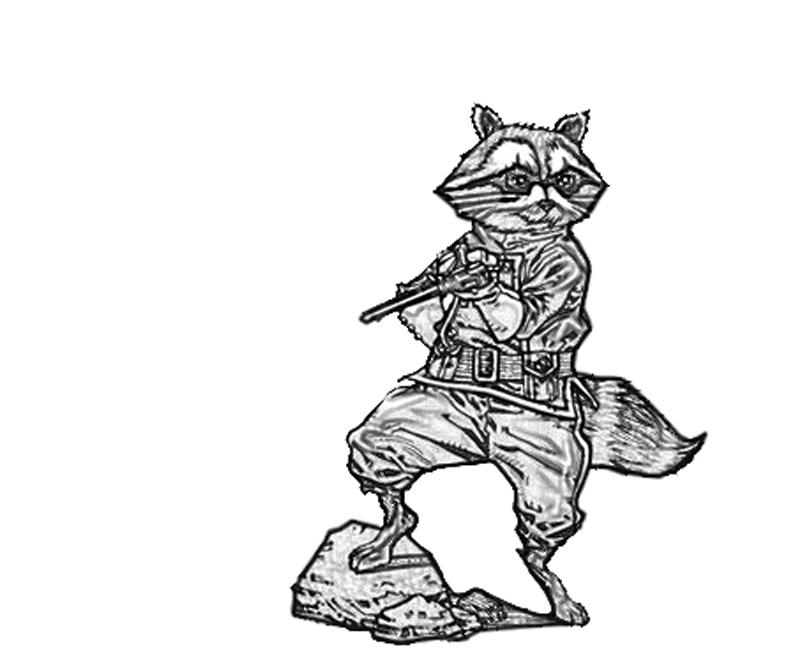 rocket raccoon coloring pages | Rocket Raccoon Chibi | Lowland Seed