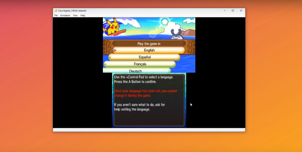 Pokemon Ultra Sun & Ultra Moon 3DS IN PC By CITRA EMULATOR