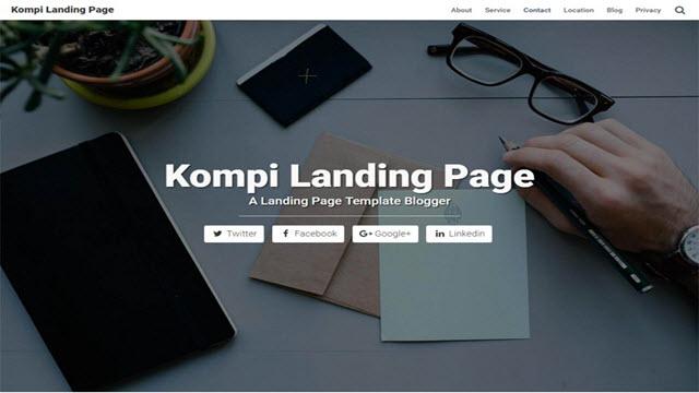Kompi Landing Page - BTemplates