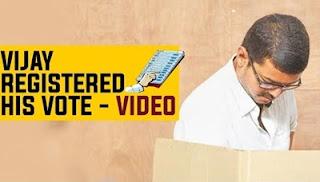 Actor Vijay casts his vote at Chennai   News7 Tamil