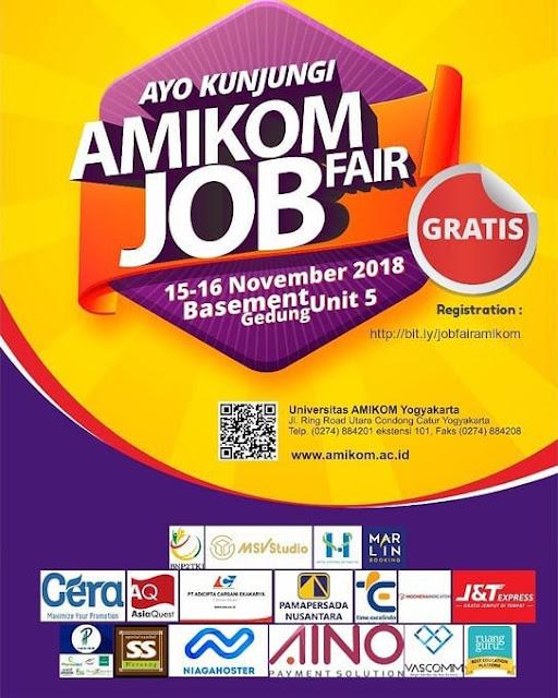 JOB FAIR AMIKOM Yogyakarta (GRATIS)