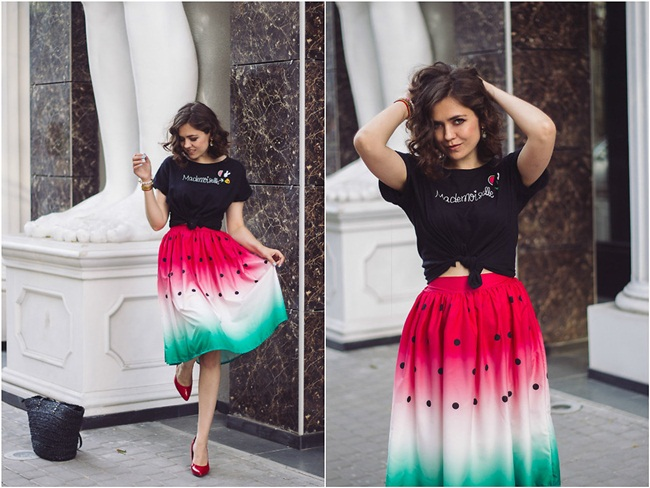 2016 Summer Unique Vintage Watermelon Skirt