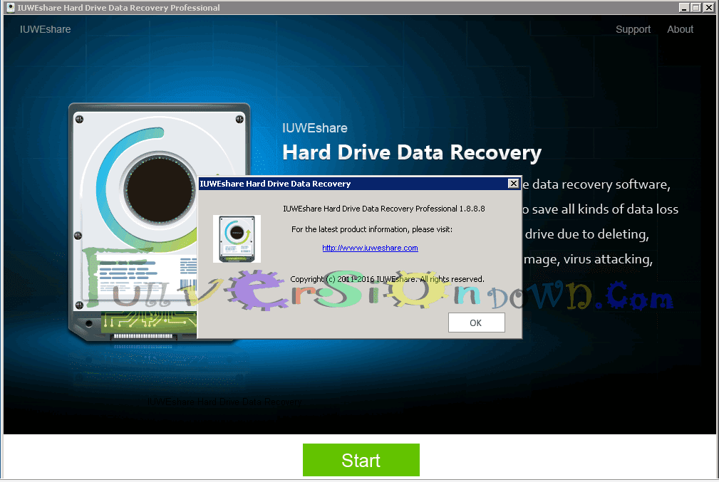 IUWEshare Hard Drive Data Recovery Professional Full Version