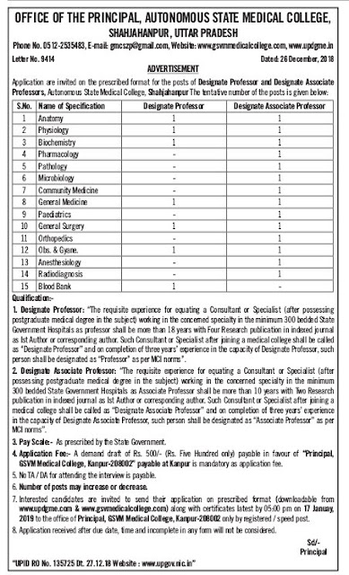 Shahjahanpur-Govt-Medical-College-Uttarpradesh-recruitment-tngovernmentjobs