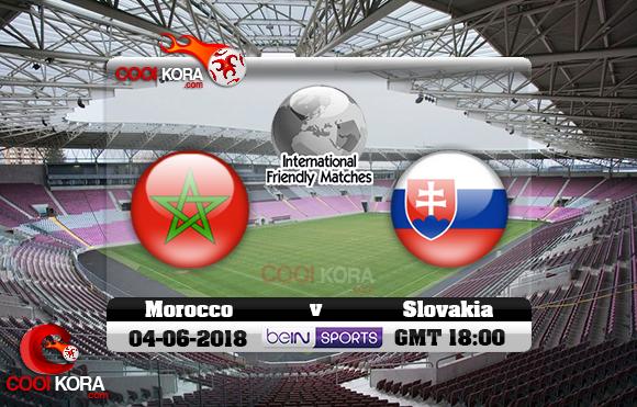 مشاهدة مباراة المغرب وسلوفاكيا اليوم 4-6-2018 مباراة ودية