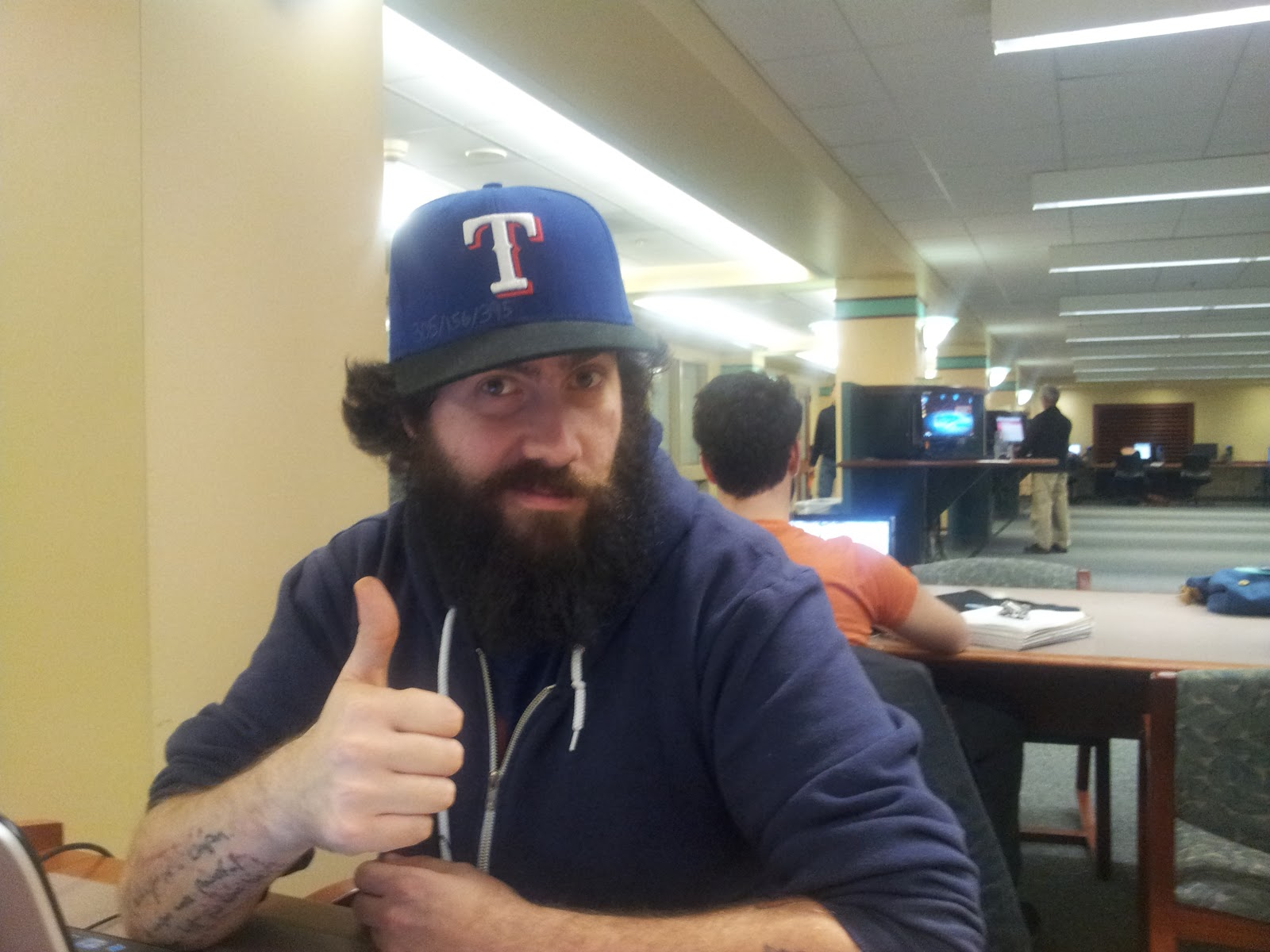 Hats and Tats: A Lifestyle: March 3- Texas Rangers