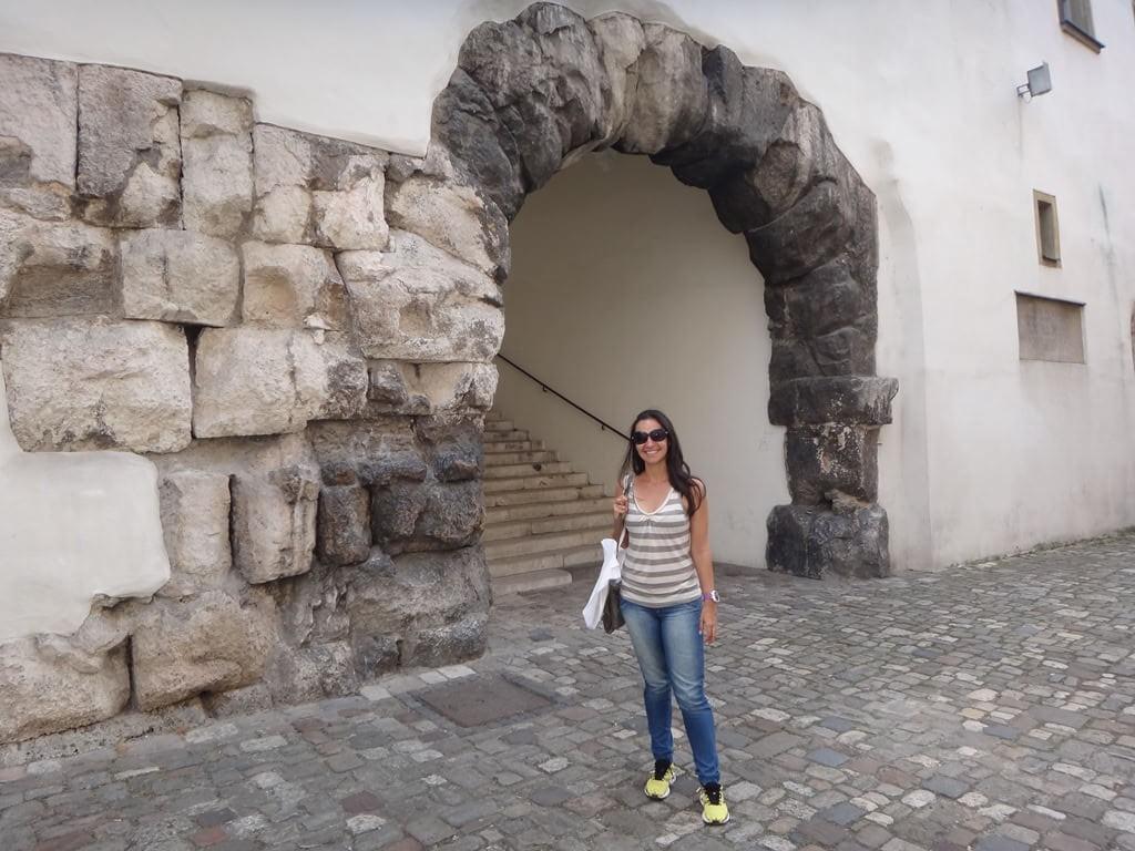 Porta Praetoria em Regensburg Alemanha