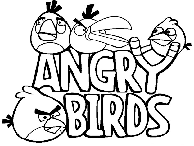 Angry Birds Cartoon Coloring Pages