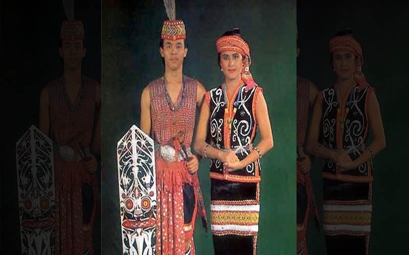 Inilah Pakaian Adat Dari Kalimantan Barat (Pria dan Wanita)