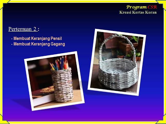 Program CSR (Corporate Social Responsibility) Kerajinan Tangan Kreasi Daur Ulang Kertas Koran 2016