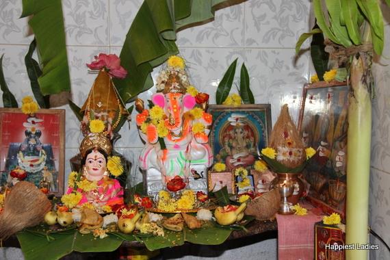 plantain decoration ganesh chaturthi