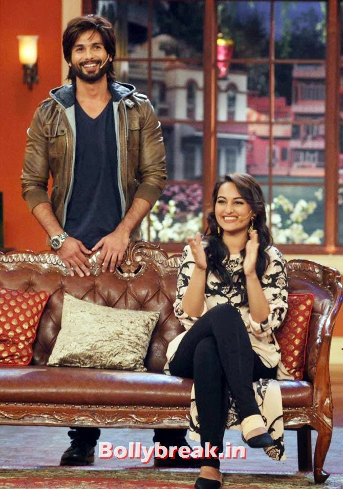 Shahid Kapoor and Sonakshi Sinha, Shahid, Sonakshi promote R Rajkumar on Comedy Nights with Kapil