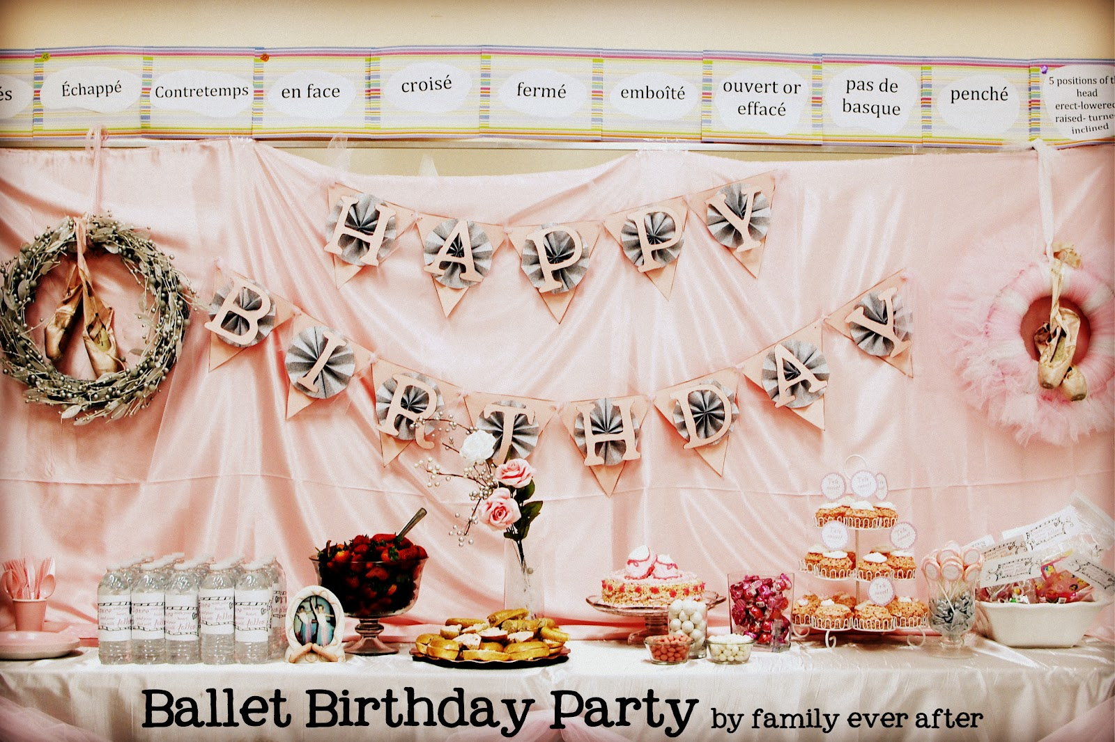 Create A Dance Party With Free Printables Tutu Wreath Ballet Cake