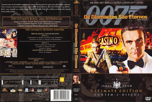 Capa DVD Os Diamantes São Eternos