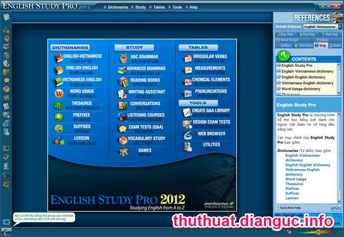 Download English Study Pro 2012 Full Key – Phần mềm học tiếng anh hay nhất