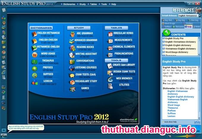 Download English Study Pro 2012 Full Key - Phần mềm học tiếng anh hay nhất