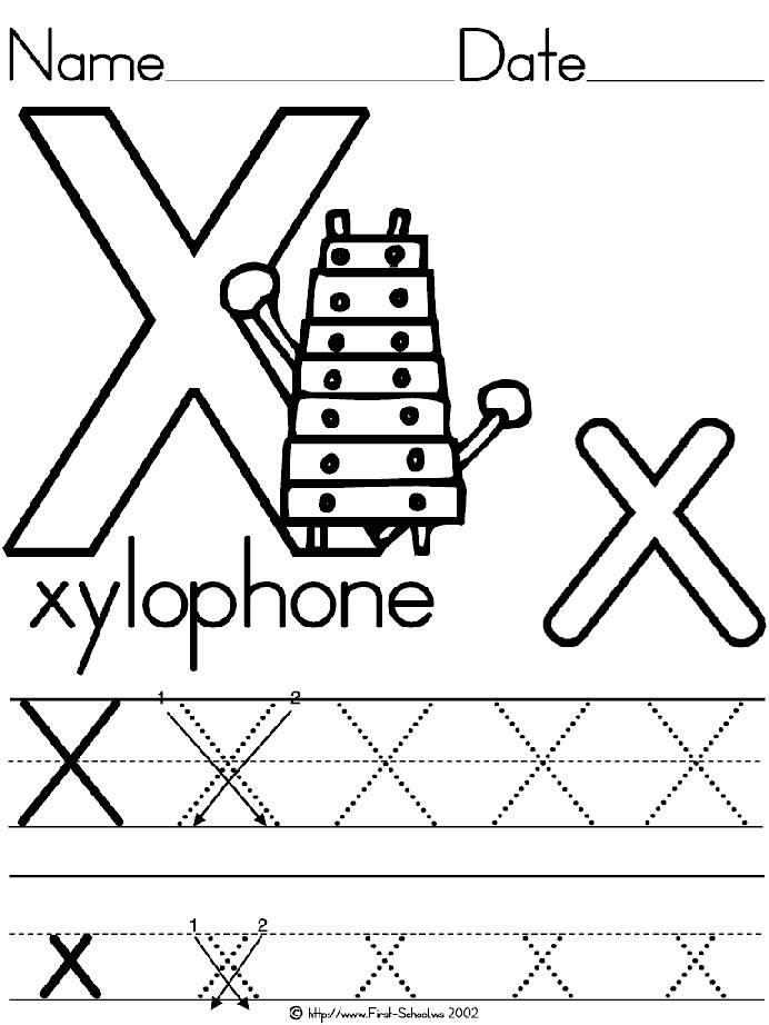 letter x preschool - 692×922