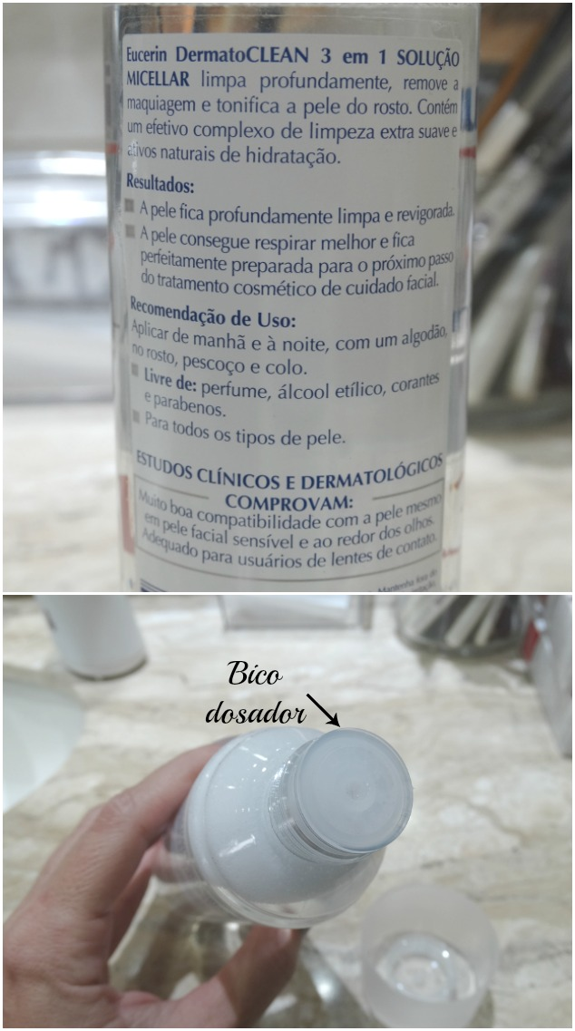Eucerin DermatoCLEAN Solução Micelar 3x1 2