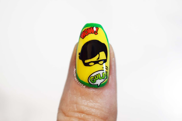 DC Comics Robin Batman Comic Book Nerd Nails